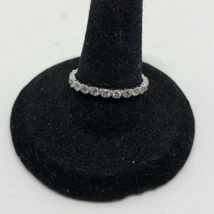 Jewelry - Cubic Zirconia and sterling band ring